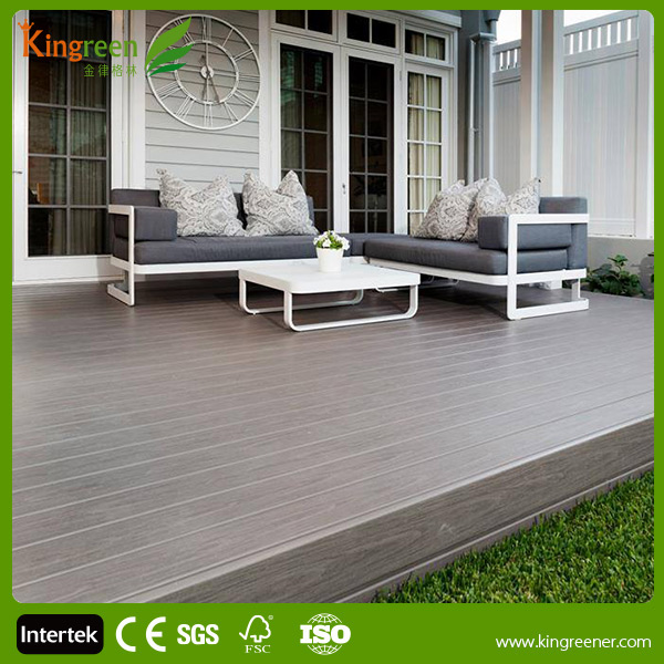 Carte du panneau composite decking rev tements de sol en for Plancher exterieur plastique
