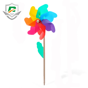 china wholesale cheap high quality colorful garden decoration rotate windmill safety plastic kids toys for children
