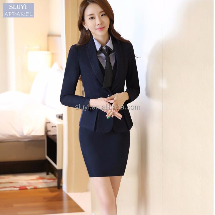 b ro frauen kleid anzug uniformen bequeme d nne schwarz blau damen designer rock anz ge mit. Black Bedroom Furniture Sets. Home Design Ideas