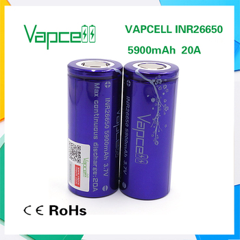 26650 battery Vapcell26650 5900mAh 20A high quality rechargeable lithium battery