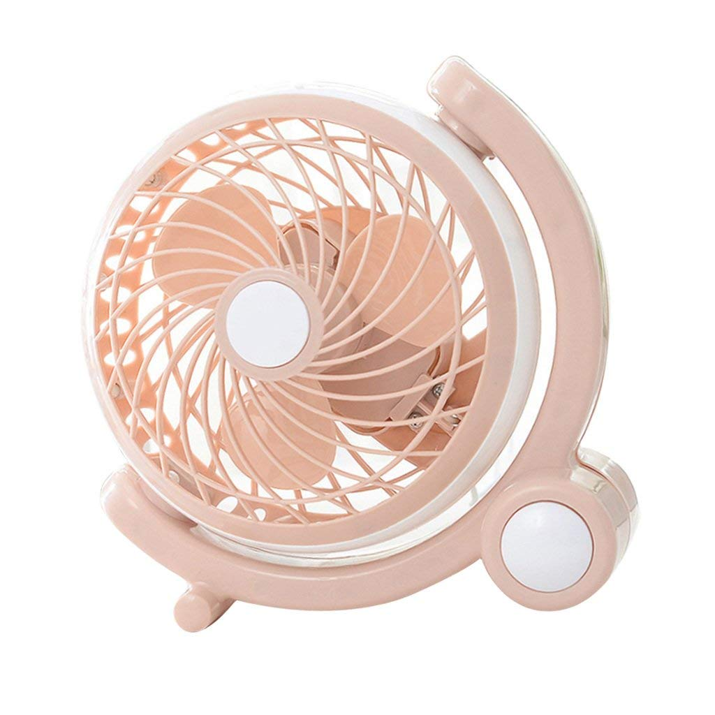 Baoblaze Handheld usb Desktop Fan Mini Portable Desk Fan, Personal Cooling Fan for Outdoor for Home Office Travel - Pink