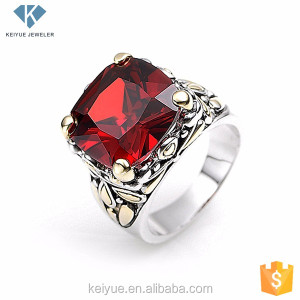 Single red coral stone sterns wedding rings designs jewelry catalogue