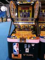 Sealy coin operated arcade amusement basketball game machine