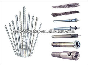 alloy plastic extruder machine feed screw and barrel/rubber extruder screw barrel for rubber machine