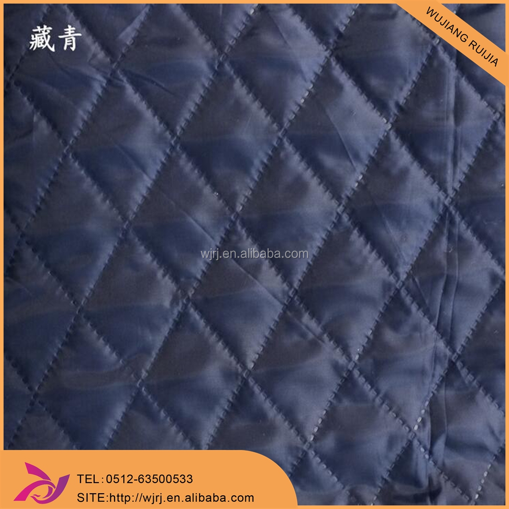 Three layer polyester ultrasonic quilted taffeta fabric