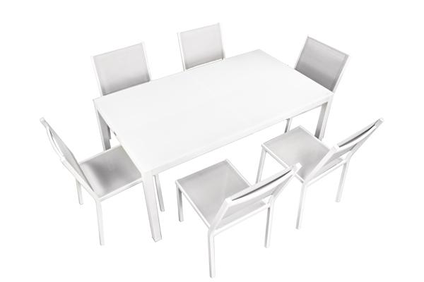 juego mesa y sillas vintage blanco