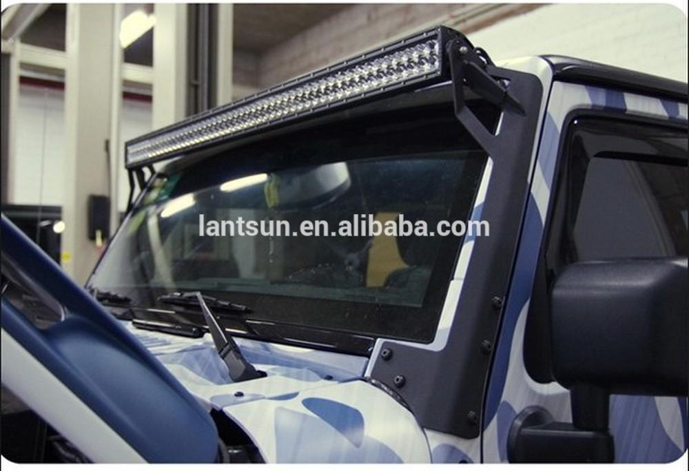 Jeep wrangler llev la luz los soportes de 50 pulgadas led for Barra de luz led
