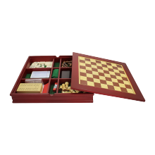Travel Coklat Kayu 7 In 1 Permainan Set: Catur, <span class=keywords><strong>Backgammon</strong></span>, Checker, Poker Chips, bermain Kartu