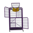 Fashion design hot selling pet cat 4 wheels cat kennel metal wire cat show cage