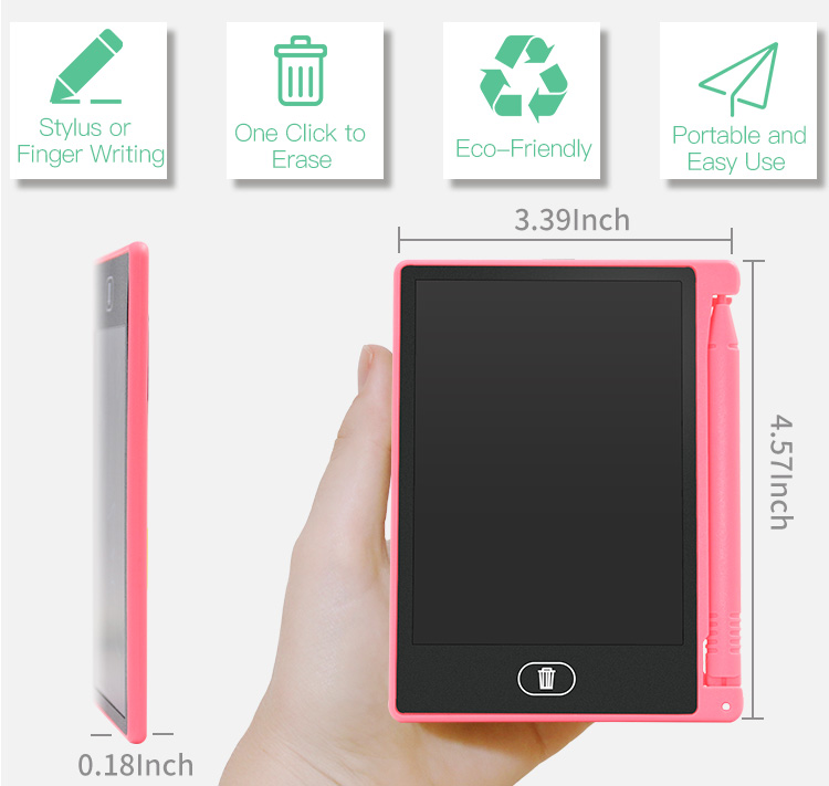 Top Selling Portable Mini Size kids Digital Drawing Board lcd writing tablet 4.4 inch Note LCD Display Writing Tablet