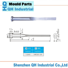 Injection Mold Flat Ejector Pin Skd61 Skh51 Hss Ejector Pin Of Plastic Mold Parts