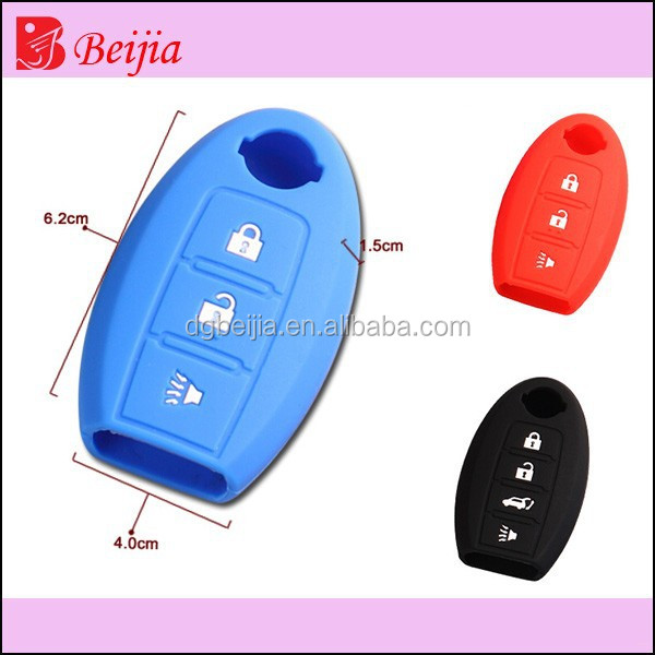 colorful silicone car key cover for nissan, OEM welcome