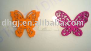 2-8cm butterfly carved wooden beads charm