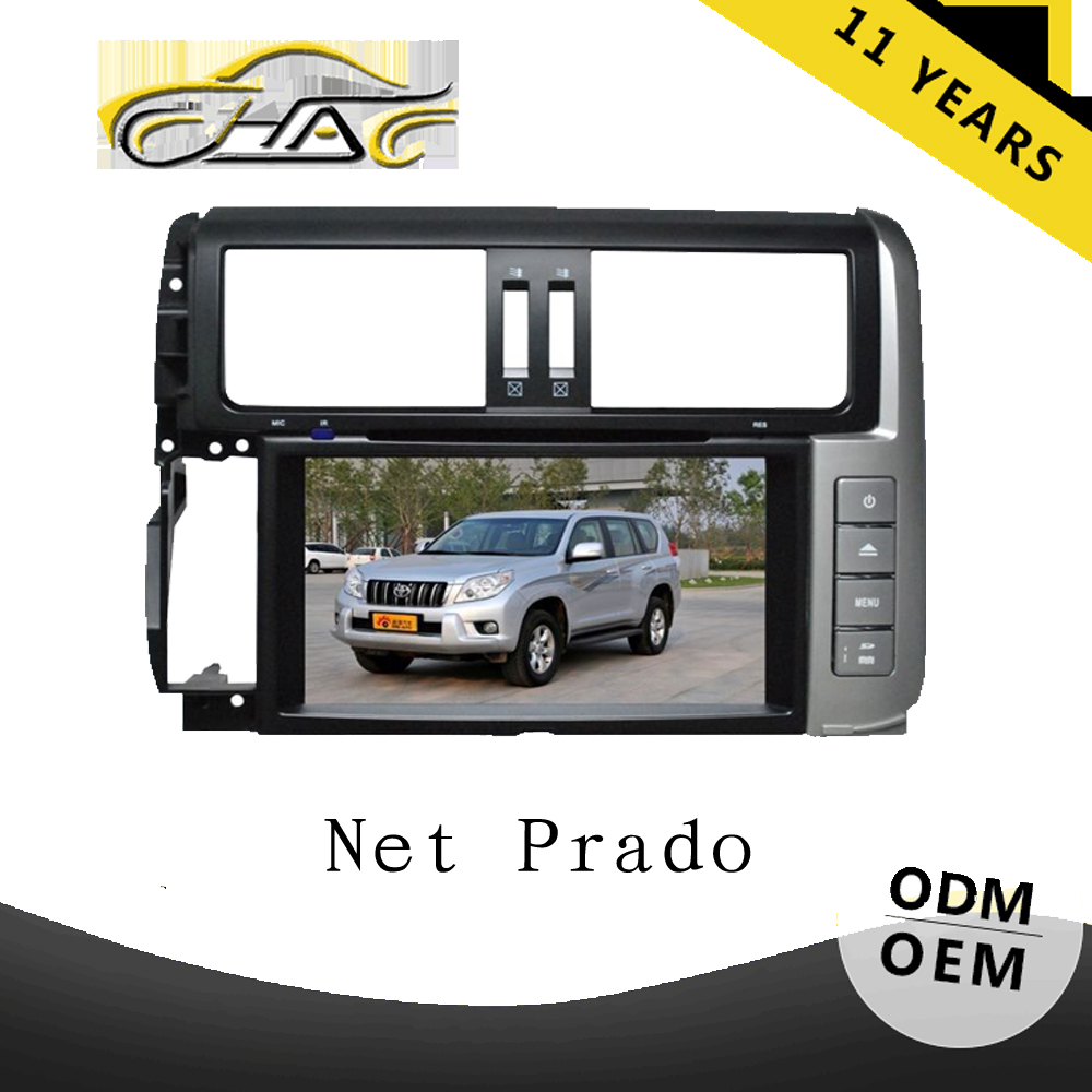 OEM ODM hd car dvd player for toyota prado 150 with steering wheel control camera