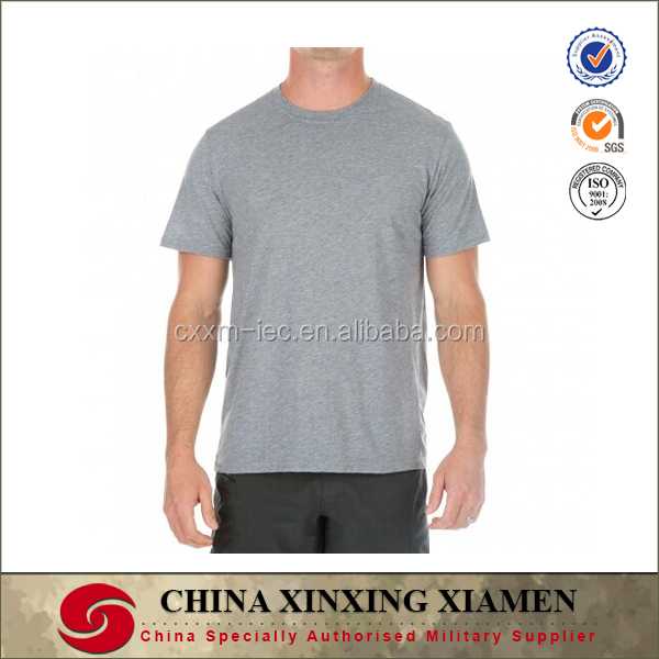 Wholesale Casual Wear 100% Combed Cotton Grey Round Neck Blank T Shirt