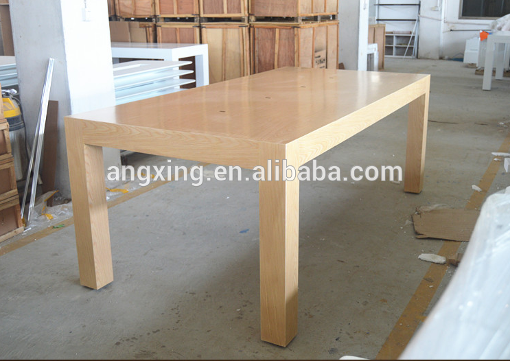 Apple store wood display table with legs mobile displays