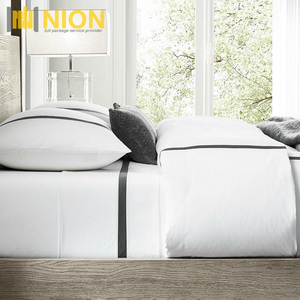 Hotel Bedding Set Linen Italian Linea Stripe Cotton Bedding Set Collection