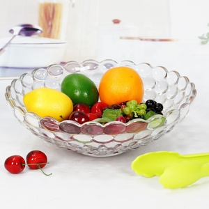 decorative flat glass fruit bowl