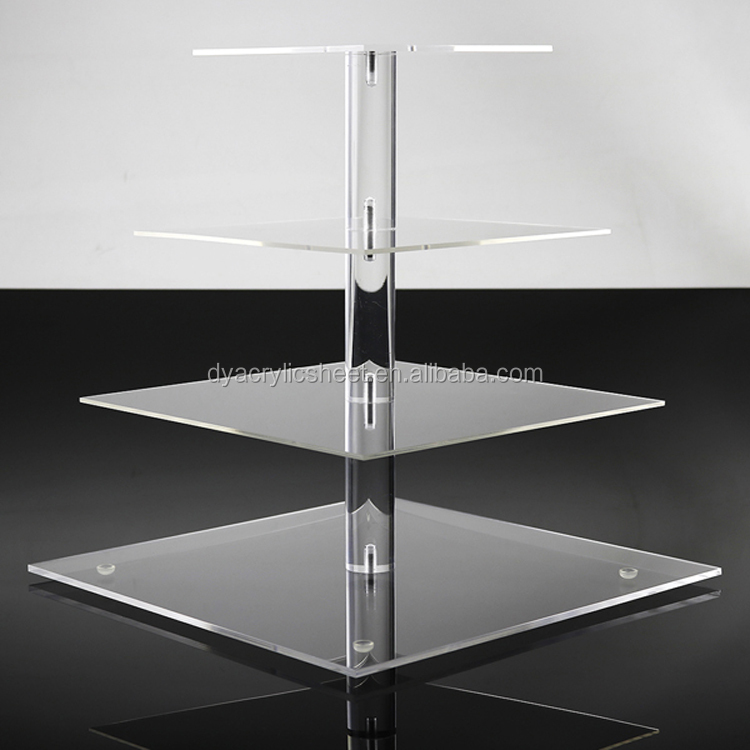 4 Tier Round Clear Acrylic Cupcake Display Stands