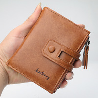 Free Shipping 2019 New Fashion Genuine + PU Leather purse, men wallet