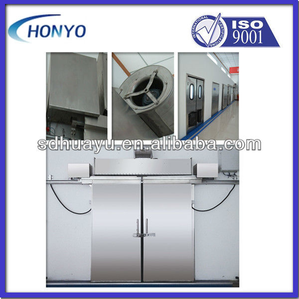 stainless steel double leaf sliding door for cold room