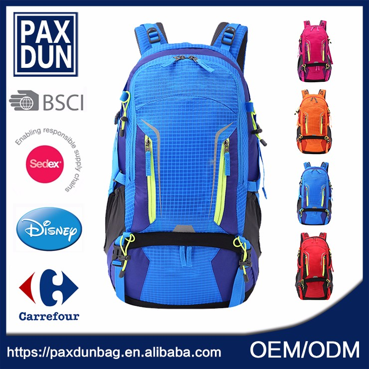 China Best Quality Crazy Sell Blue Mountain 50l Backpack