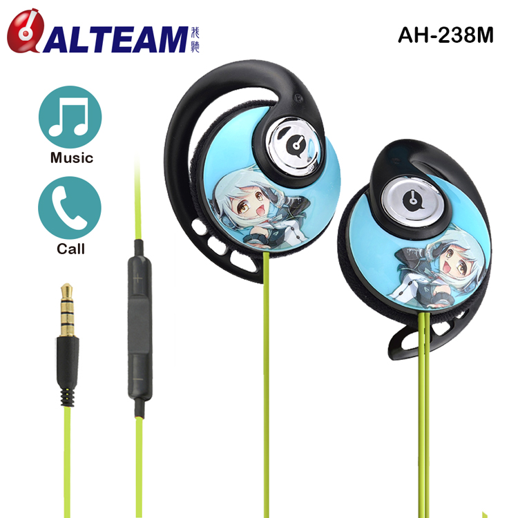 China wholesale for mobile phones Earclip cartoon earphones