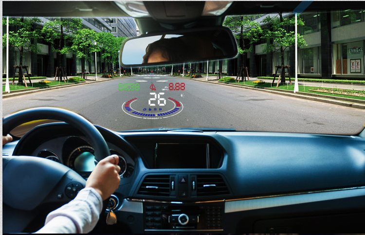 X5 HUD Head Up Display Car HUD Head Up Display Car Styling Speed Alarm OBD II