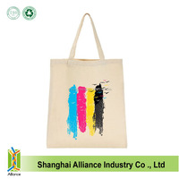 Wholesale 100% Cotton Canvas Shopping Tote Bag Grocery Bag