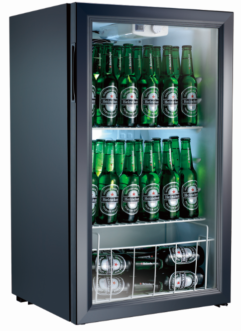 Countertop Locking Glass Door Beverage Refrigerator