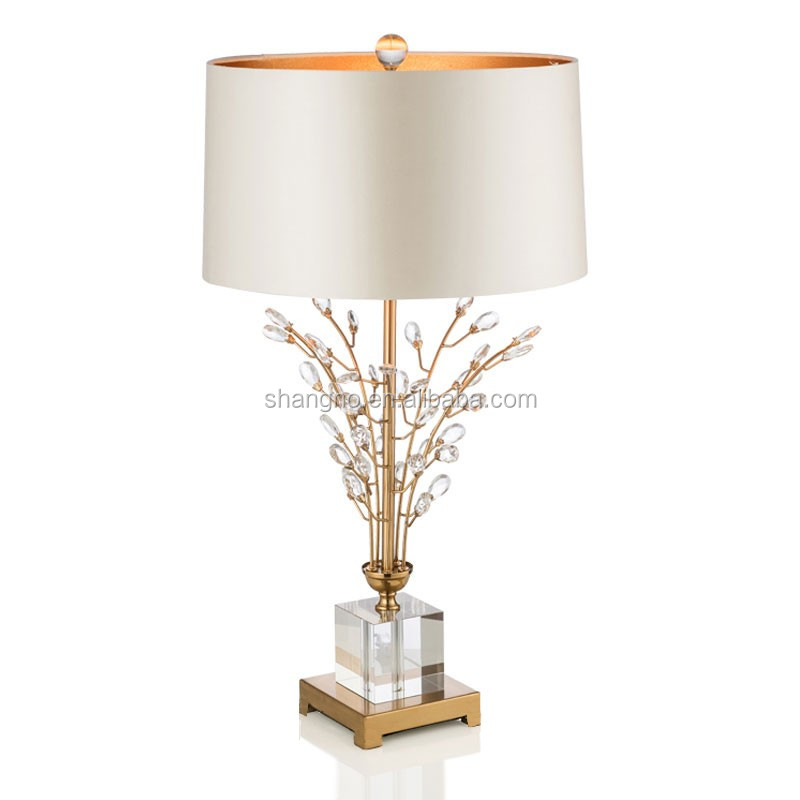 Modern Fashion Tree Branch Crystal Table Lamp Creative Lamp