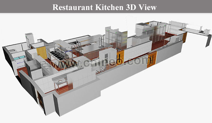 Restaurant Kitchen 3d Model commercial 3 door stainless steel restaurant kitchen undercounter