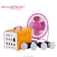 10w 7AH OEM portable battery operated safety generator solar system for charging mobile phone