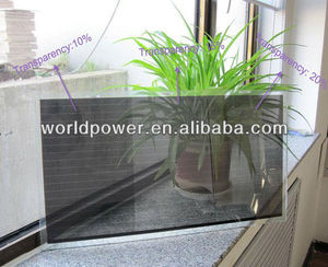25% Transparent 100W A-Si Thin Film Transparent Solar Panel for Bus Stop