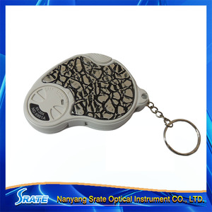 Keychain Promotion gift magnifier with LED No.6901A