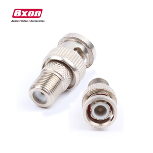 BNC to F Female Connector / Adaptor for Security Coax cable RG6 RG59