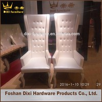 throne king queen chairs/cheap stackable king and queen chairs for wedding