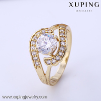 11867-xuping fashion gold plated jewelry 14k gold rings jewelry