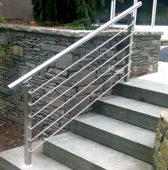 Bon Modern Outdoor Metal Handrail For Steps / Outdoor Metal Stairs Railing