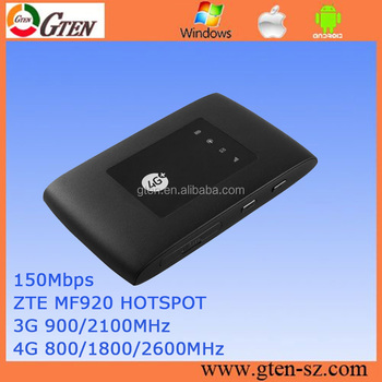 Original Unlocked Zte Mf920 4g Routermobile 150mbps Lte 4g Router For  Rusiia Network - Buy Zte Mf920 4g Router,4g Router,4g Lte Wireless Wifi  Router