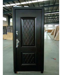 Latest Design Israel Security Steel Safety Doors Wrought Iron Single Galvanized Steel Door