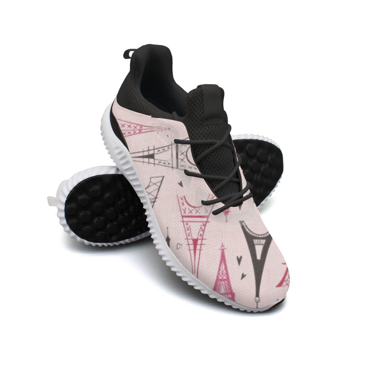 RegiDreae Canvas Slip On Sneakers For Women Paris Eiffe Tower Fashion Sneaker