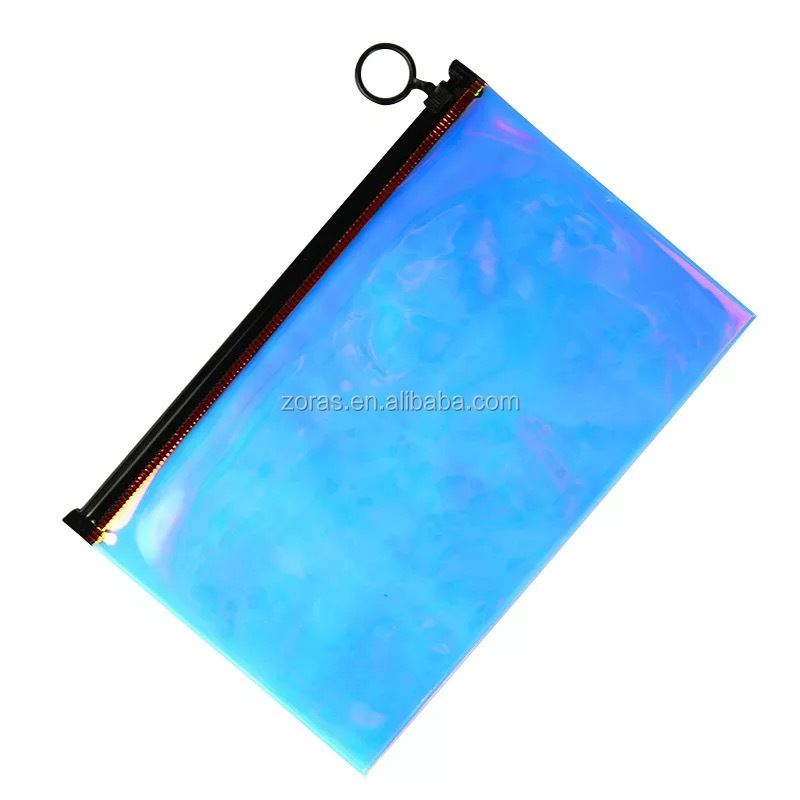 100% PVC Dazzle Cosmetic Holographic PVC Bag