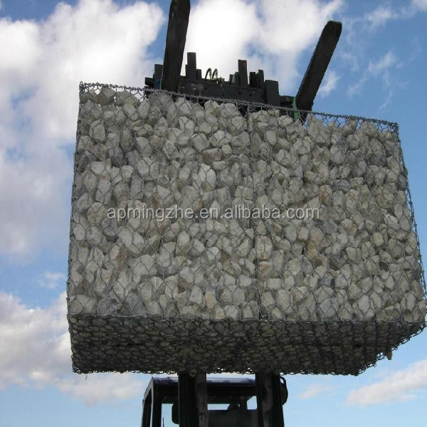 Low price woven heavy hexagonal wire netting for gabion stone staining wall