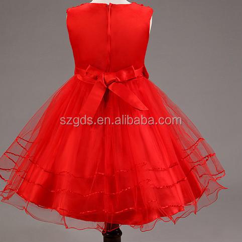 In Stock Top Quality Flower Girl Dress Baby Girls Princess Dress Custom Girls Dress Patterns