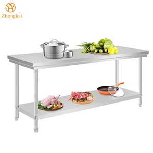 Commercial Equipment Heavy Duty Restaurant Supplies Stainless Steel Kitchen Work Bench Table