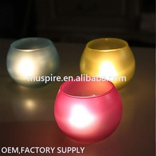 Factory supply first choice frosted glass candle jar