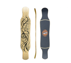 KOSTON Longboard Deck Made From Maple And Bamboo Hybrid Material , Long Board Deck For Dancing Purpose