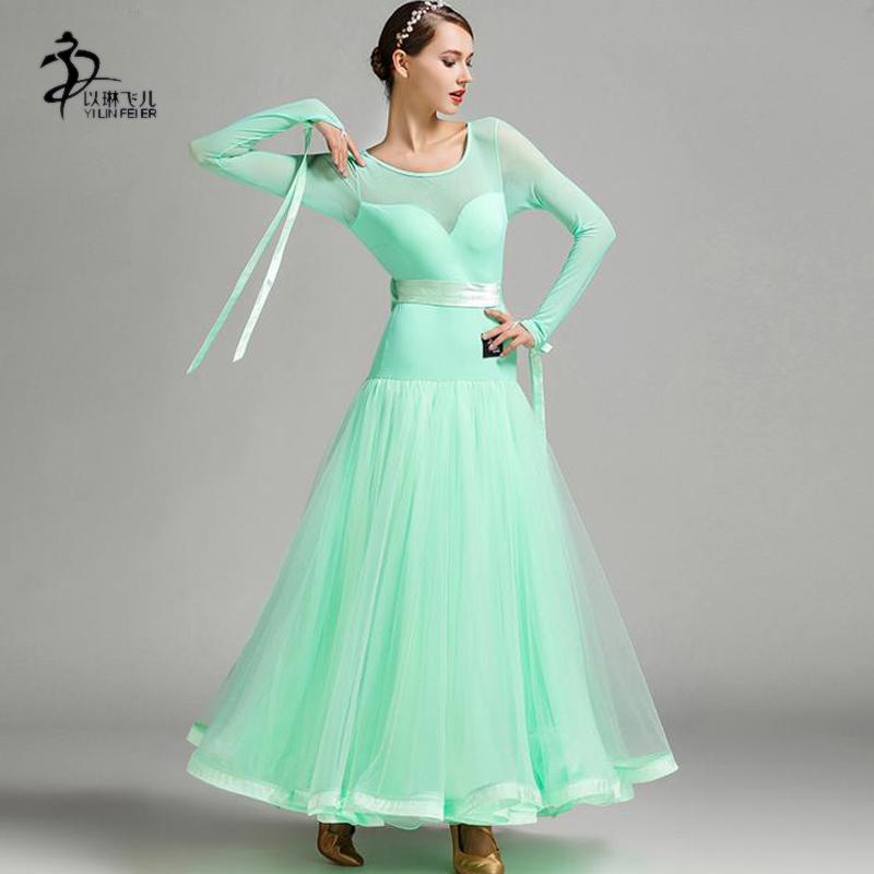 1624f6fe145 Adults Standard Ballroom Dress 2019 Modern Waltz Ballroom Dance Competition  Dresses For Women Standard Dance Dress Fluffy Skirt