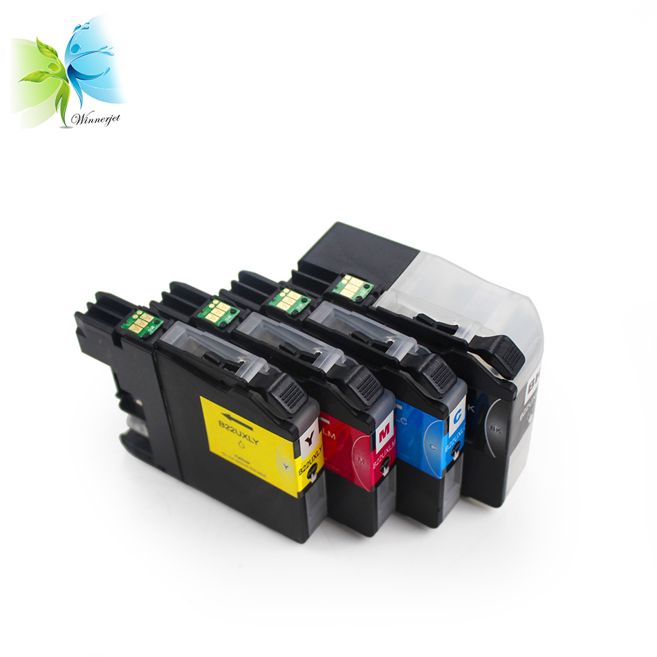 WINNERJET empty ink cartridge for Brother DCP-J785DW MFC-J985DW single use empty cartridge with chip for Brother LC22U LC22UXL